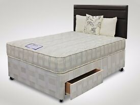GUARANTEED DISCOUNTED PRICE // DOUBLE DIVAN BASE WITH MATTRESS & FAST DELIVERY