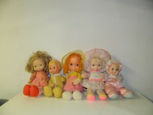 5 Vintage Old Collector Dolls from early 1970's