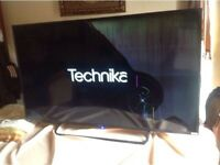 "•Tecnika 50"" led working but screen damage £15"