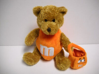 M&M Galerie Orange Halloween Bear Plush W/ M&M Trick Or Treat Bag 2003 Rare HTF ](Halloween M&m Treats)