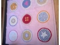Ikea pink square washable rug for girls size 133cm x 133cm