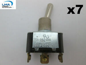 LMA - 7 x CARLING TOGGLE SWITCH 3-POSITIONS 3-SCREWS TERMINALS