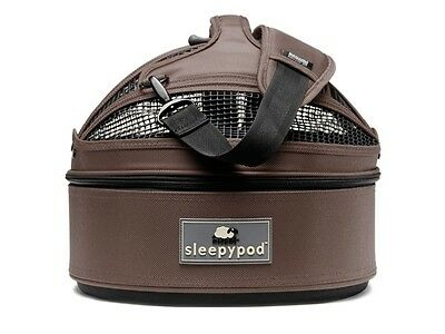 RETURNED Sleepypod Mini Pet Bed Dog or Cat Traveler Carrier DARK CHOCOLATE