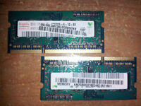 4GB DDR3 1333(PC3-10600) notebook memory (2GB x 2)