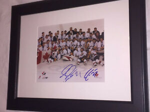 Autographed 2002 Team Canada Gold Medal 8x10 Framed