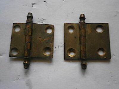 LONGCASE GRANDFATHER CLOCK TRUNK DOOR HINGES  C1780