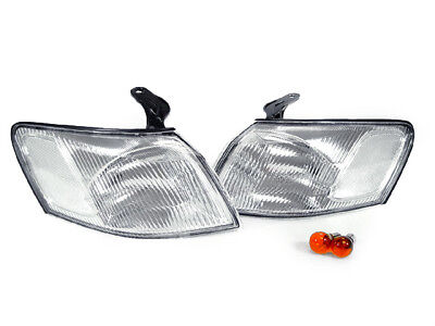 Corner Lights Lens - DEPO JDM Style Clear Lens Front Corner Lights Lamps For 97 98 99 Toyota Camry
