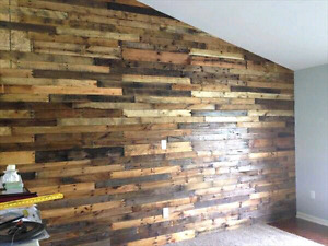 Reclaimed wood wall pallet accent wood wall barnboard reclaimed