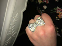 Sterling Silver Cubic Zirconia Bow Ring