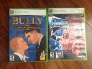 Xbox 360 Games For Sale (Bully and Wwe 07)