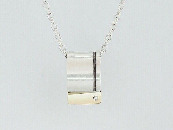 Georg Jensen Necklace Pendant #223 Sterling Silver Denmark Jewelry #13647