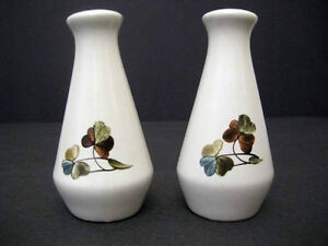 Vintage 1980's Denby Shamrock Salt and Pepper