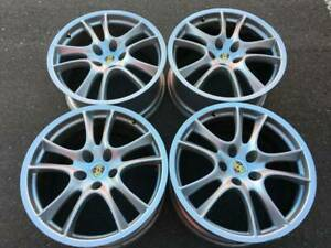 "Set of Genuine OEM Porsche 21"" Cayenne GTS series 955 rims"