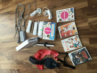 Wii with accessories