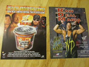 WWF WWE RAW DEAL CCG Card Game Sell Sheet Lita RVD HHH Austin