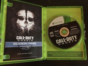 4 Call of Duty Games (Ghosts, Black Ops, MW2, MW3) Xbox 360