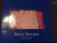 Brand new in box Royal Speyside cashmere gloves and scarf