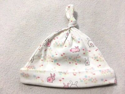 Gymboree Brand New Baby 3 6 Month Bunny Rabbit Knit Top Knot Hat Knit Knot Hat