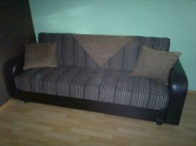 Brand new brown sofa bed