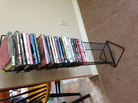 DVD/Video Game Stand with DVD's