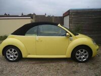 Vw Bettle convertible Yellow ,black electric convertible,Excellent condition, 97000 miles