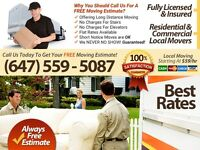 A2B MOVERS -TOP Mississauga MOVING COMPANY-4HR Move $300 Special