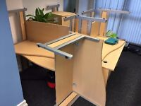 Curved Office desks - Computer Tables - Very solid - More than 1 available