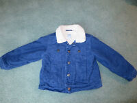 Twill Sherpa-Lined Jacket, size 3T Old Navy