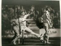 Graham Napier in action for Essex. Exhibition Framed Photo