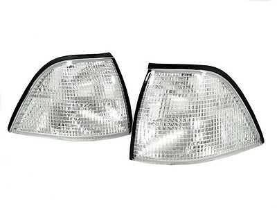 DEPO Euro M3 Clear Corner Signal Lights For 92-99 BMW E36 2D Coupe / Convertible 3 Series 2d Coupe