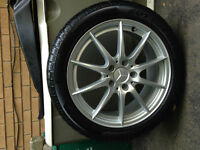 "CLA250 - 17"" Runflat winter tires and Mercedes rims"