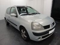 Silver, two door, renault Clio, 108,000 miles, petrol, one years MOT