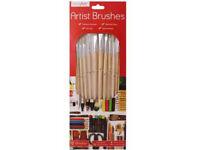 Work Of Art - 12 Pack Natural Artist Brush Set