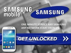 On spot unlock/repair any samsung phone any network start from 8$