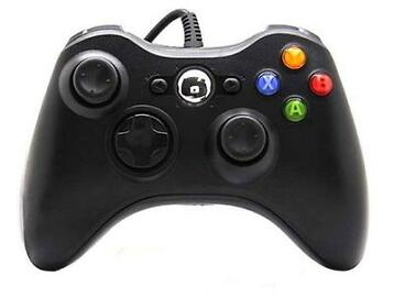 Controller Wired Zwart - Third-Party - NIEUW (Xbox 360)