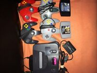 N64, controllers,games