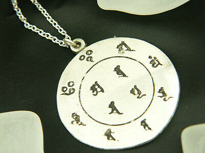 Whitemetal Buddhist Pendant Top ; JUHNITEN MANDALA (The Twelve Dharmapalas)
