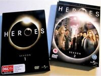 Heroes Seasons 1 & 2 DVDs - Excellent condition, barely played.
