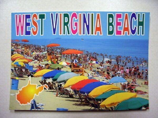 West Virginia Beach Postcard
