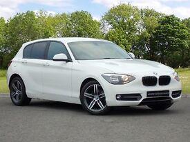 BMW 1 SERIES 118I SPORT (white) 2015