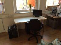 Desk space in animation studio