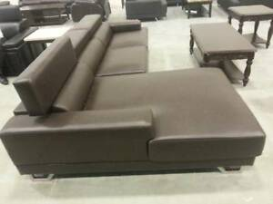Brand New Brown Leather Sectional BNIB