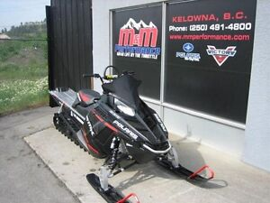 2015 Polaris 800 RMK 155 LE Matte Stealth Black with Red Graphic