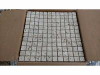17 Travertine Mosaic Tiles £45