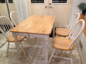 Hardwood Kitchen Table (complete)