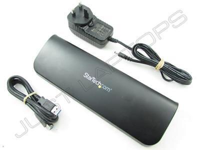 StarTech USB 3.0 Ultrabook Dual Video HDMI DVI VGA Docking Station w/ AC Adapter