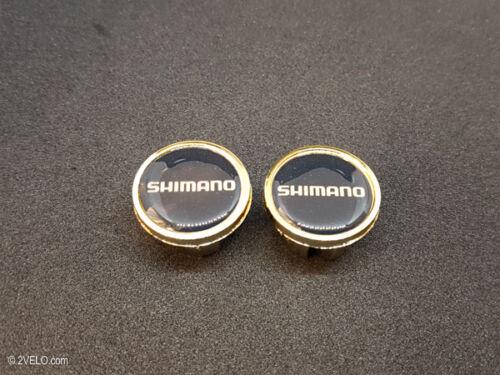 Vintage style Shimano gold Handlebar End Plugs
