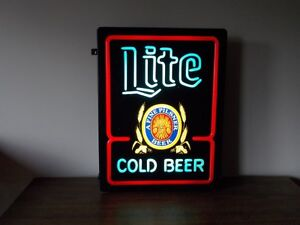 Miller Lite Cold beer sign - lighted - made in USA