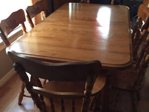 Kitchen dining room set, Solid Oak 8 Chairs + China Cabnet