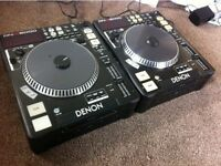 2x Denon DNS5000 CD Player Decks (with individual flightcases)